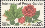 USA 1982  International Peace Garden 50th/ Rose/ Maple Leaf/ Flowers/ Plants/ Nature 1v (us1019)