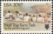 USA 1982 Wolf Trap Farm Park/ Theatre/ Performing Arts/ Acting/ Actors/ Buildings 1v (us1016)