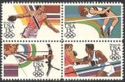 USA 1983 Olympic Games  /  Olympics  /  Sports  /  Archery  /  Boxing  /  Discus 4v set blk (n41068)