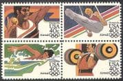 USA 1983 Olympic Games  /  Olympics  /  Sports  /  Gymnastics  /  Swimming 4v set blk (n41069)