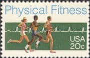 USA 1983 Physical Fitness Campaign/ Runners/ Heart Trace/ Athletics/ Sports/ Running 1v (us1002)