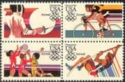 USA 1984 Olympic Games/ Olympics/ Sports/ Fencing/ Cycling/ Bikes/ Bicycle/ Volleyball 4v blk  (n28826)