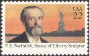 USA 1985 Frederic A Bartholdi/ Sculptor/ Statue of Liberty/ Art/ Sculpture/ People/ Heritage 1v (n44833)