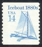 USA 1985 Iceboat/ Ice Boat/ Land Yacht/ Sailing/ Transport 1v coil (n43756)