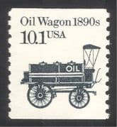 USA 1985 Oil Wagon/ Tanker/ Business/ Commerce/ Minerals/ Transport 1v coil (n29308)