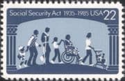 USA 1985 Social Security Act 30th Anniv./ Disabled/ Medical/ Health/ Welfare/ People 1v (us1010)