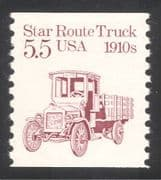 USA 1985 Star Route Truck/ Motors/ Lorry/ Business/ Transport 1v coil (n24523)