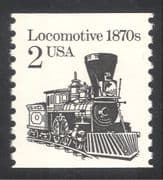 USA 1985 Steam Engine/ Locomotive/ Trains/ Railway/ Rail /Transport 1v coil (n25159)