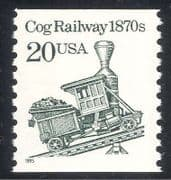 USA 1985 Steam  /  Train  /  Cog Railway  /  Transport 1v (n24280)