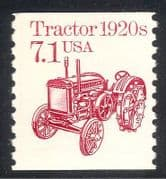 USA 1985 Tractor  /  Farming  /  Transport  /  Motors 1v (n24526)