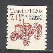 USA 1985 Tractor  /  Farming  /  Transport  /  Motors  /  Motoring o  /  p 1v (n24527)