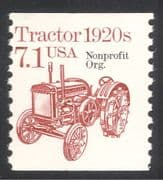 USA 1985 Tractor/ Tractors/ Farming/ Transport/ Motors 1v coil o/p (n24524)