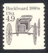 USA 1985 Transport/ Buckboard/ Horse drawn Carriage 1v (n29312)