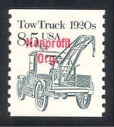 USA 1985 Transport/ Tow Truck/ Motors/ Motoring/ Business/ Commerce 1v coil red o/p (n24520)