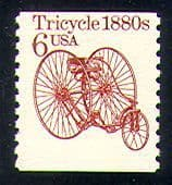 USA 1985 Transport/ Tricycle/ Bikes/ Cycling/ Bike 1v coil (n29307)