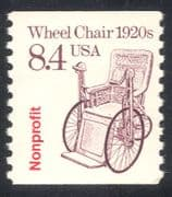"USA 1985 Transport/ Wheel Chair/ Disabled/ Health/ ""Nonprofit"" o/p  1v coil (n29315)"
