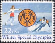 USA 1985 Winter Special Olympic Games/ Olympics/ Skating/ Skiing/ Sports 1v (us1026)