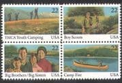 USA 1985 Youth Year  /  Scouts  /  YMCA  /  Leisure  /  Camping  /  Canoe  /  Boat  /  Transport blk n39035