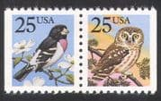 USA 1988 Owl  /  Grosbeak  /  Birds  /  Raptors  /  Flowers  /  Nature bklt pr (n39106)