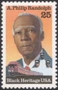 USA 1989 A Philip Randolph/ Black Heritage/ Trades Unions/ Railway/ Trains/ Transport/ Workers 1v (n44825)
