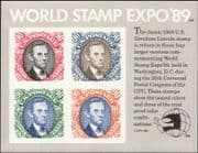 USA 1989 World Stamp Expo/ Lincoln/ Presidents/ People/ S-on-S/ StampEx  imperf m/s (n44358r)