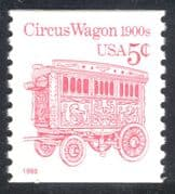 USA 1990 (1995 re-issue) Transport/ Horse drawn Circus Wagon 1v coil (n24532)