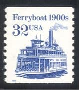 USA 1990 Transport/ Ferry/ River Boat/ Paddle Steamer/ Trade/ Commerce 1v (n24542)