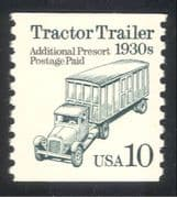 USA 1990 Truck/ Lorry/ Motor/ Transport/ Motoring/ Business/ Commerce 1v coil (n24519)