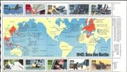 USA 1992 Second World War/ WWII/ Planes/ Ships/ Tanks/ Maps/ Army/ Transport 10v sht (n25203a)