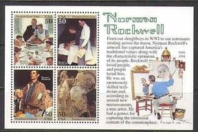 USA 1994 Rockwell 100yrs  /  Art  /  Painting 4v m  /  s (n22767)