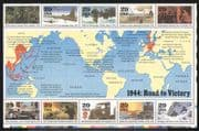 USA 1994 Second World War/ WWII/ Planes/ Ships/ Army/ Truck/ Submarines/ Military/ Transport 10v m/s (n25207)