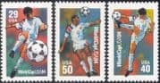 USA 1994 Sports/ Football World Cup/ WC/ Soccer/ Games/ Animation 3v set (n43586)