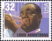 USA 1995 Louis Armstrong/ Trumpet/ Jazz Musician/ Music/ People 1v (n43505k)