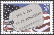 USA 1995 Memorial Day/ Military/ National Flag/ I D/ Identification Tags 1v (n44368)