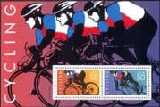 USA 1996 Animated Professional Cycling  /  Sports  /  Racing/ Bikes/ Transport 2v m/s ref:s1693