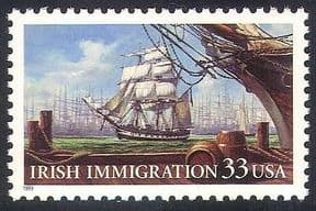 USA 1999 Ships  /  Sailing  /  Irish Immigration  /  Nautical  /  Transport  /  Boats 1v (n22987)