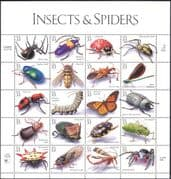 USA 1999 Spiders/ Butterflies/ Beetles/ Dragonflies/ Insects/ Nature/ Fly/ Butterfly/ Ladybird/ Beetles/ Ants/ Conservation 20v sht (b5901)