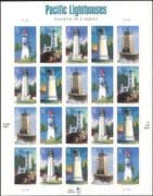 USA 2007 Lighthouses/ Maritime Safety/ Architecture/ Buildings 20v s/a sht (s117a)