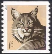USA 2013 Bobcat/ Cats/ Wildlife/ Animals/ Nature/ Conservation 1v ex coil (n44589a)
