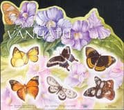 Vanuatu 2010 Butterflies/ Insects/ Nature/ Conservation 6v s/a m/s (s1506)