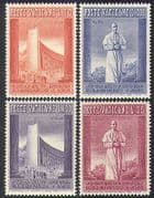 Vatican 1958 EXPO  /  Exhibition  /  Buildings  /  Architecture  /  Pope Pius XII 4v set  n37354