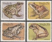 Venda 1982 Frogs/  Animals/  Wildlife/  Nature/ Conservation/Amphibians 4v set (b1334)