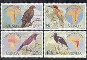 Venda 1983 Migratory Birds  /  Eagle  /  Stork  /  Bee-eater  /  Maps  /  Nature 4v set (b1335)