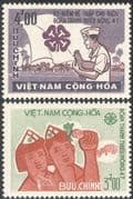 Vietnam 1965 Farming/ Pig/ Chicken/ Farmers/ Crops/ Animals/ Birds/ Nature 2v set (n43646)