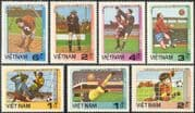 Vietnam 1985 Football World Cup Championships/ WC/ Mexico/ Sports/ Soccer 7v set( n43074)