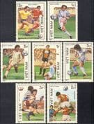 Vietnam 1986 Football World Cup Championships/ WC/ Mexico/ Sports/ Soccer 7v set (n43076)