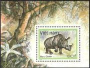 Vietnam 1988 Rhinoceros/ Rhino/ Animals/ Nature/ Wildlife/ Conservation 1v m/s (n43073)