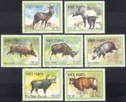 Vietnam 1988 Tapir/ Boar/ Buffalo/ Deer/ Cattle/ Animals/ Nature/ Wildlife/ Conservation/ Environment 7v set (n43072)