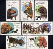 Vietnam 1989  Bassett Hounds/ Working Dogs/ Pets/ Domestic Animals/ Nature  7v set (s282b)