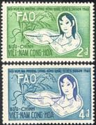 Vietnam/Viet Nam 1960 Freedom From Hunger/ FAO/ FHH/ Rice/ Food/ Plants 2v set (n43322)